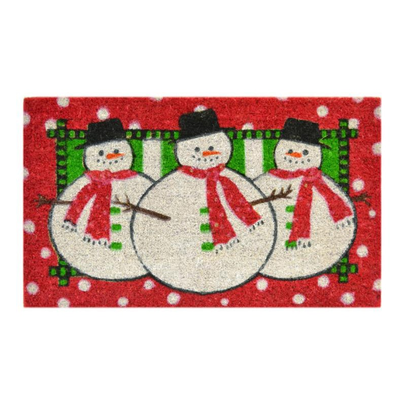 Imports Décor Three Snowmen Door Mat