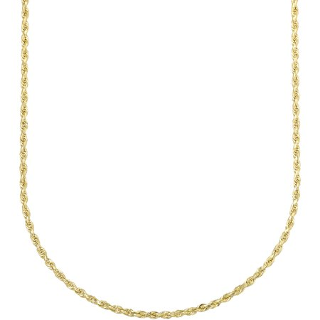 Simply Gold Womens 10K Yellow Gold 24  1 65Mm Rope Chain