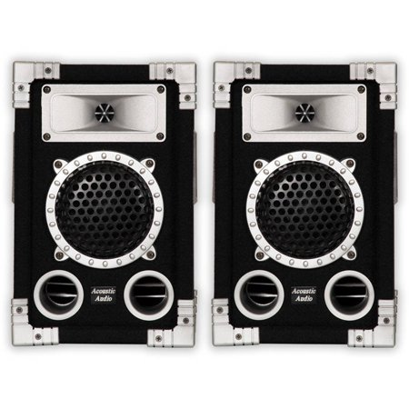 Acoustic Audio GX-350 PA Karaoke DJ Speakers, 1000W, 2 Way, Pair