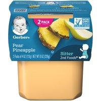 (Pack of 8) Gerber 2nd Foods Baby Food, Pear Pineapple, 2-4 oz Tubs