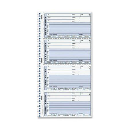 Rediform Two-Part Self-Stick Message Book, White, 1 Each (Quantity)
