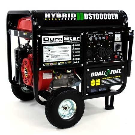 DuroStar DS10000EH 10000 Watt 18 Hp Dual Fuel HYBRID Generator w/ Electric (Best 10000 Watt Generator)