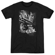 Mgm Army Of Darkness Guy With The Gun Mens Adult Heather Ringer Shirt