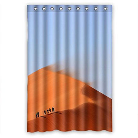 EREHome Desert Natural Landscape Shower Curtain Polyester Fabric Bathroom Decorative Curtain Size 48x72 Inches - image 1 of 1