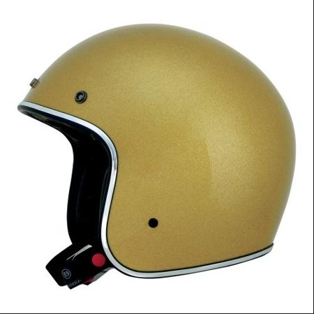AFX FX-76 Solid Open Face Helmet Gold Metal Flake (Metal Flake)