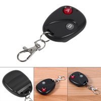Remote Control Key Garage Gate Door Transmitter Wireless 433MHz Plastic Black 2 Keys, fob, Compact and lightweight