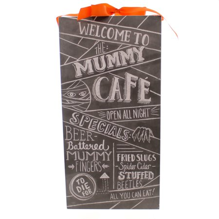Halloween MUMMYS CAFE CHALK SIGN Wood Wall Hanging Spider Cider 22301 - Quilted Halloween Wall Hangings