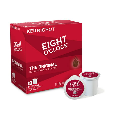 Eight Oclock Coffee The Original Keurig Single Serve K Cup Pods  Medium Roast Coffee  18 Count