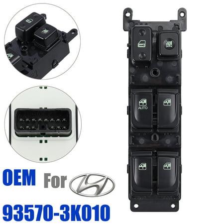 ESYNIC Front Left Master Power Window Regulator Switch For Hyundai 05-07 Sonata ,OEM#935703K010