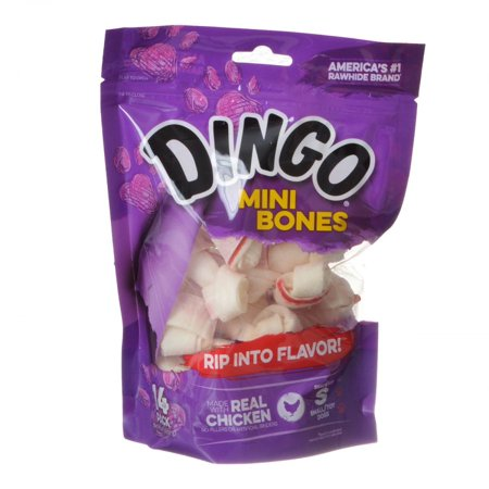 Dingo Meat in the Middle Rawhide Chew Bones Mini - 2.5