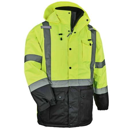 Ergodyne GloWear® 8384 Type R Class 3 Thermal Parka, Lime, XL