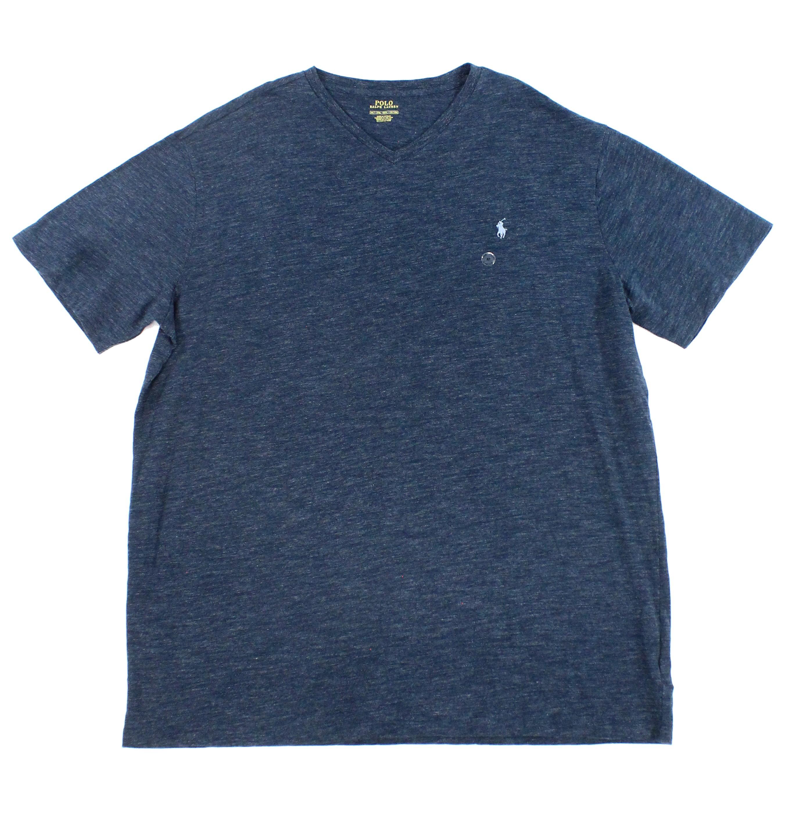 Polo Ralph Lauren - Polo Ralph Lauren NEW Blue Mens Size 2XLT Big & Tall V Neck T-Shirt - Walmart.com