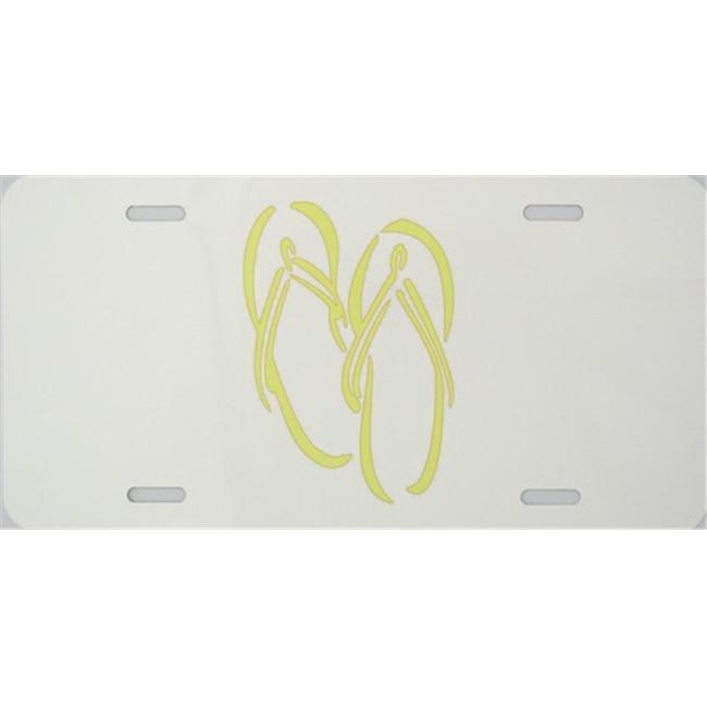 LP - 2018 Flip Flops - Yellow - License Plate