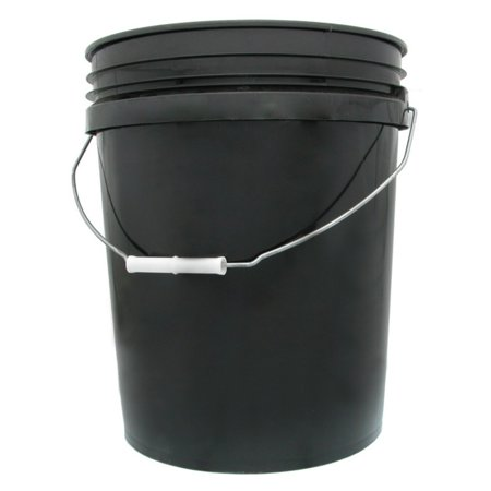 Hydrofarm HG5G 5 Gallon Black Bucket (Storage Buckets)