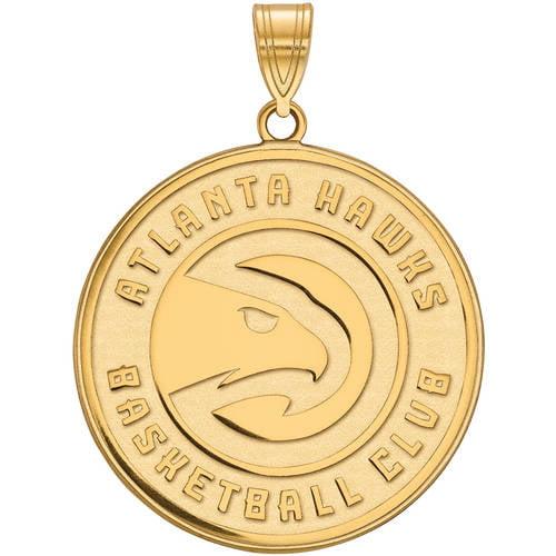 LogoArt NBA Atlanta Hawks 14kt Yellow Gold Extra Large Pendant