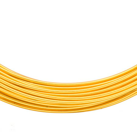 Aluminum Beading Wire, Anodized Gold 14 Gauge 48-foot coil jewelry - Anodized Aluminum Wire