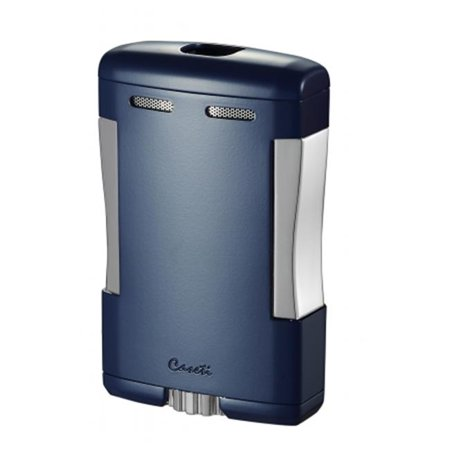 Caseti CAL315BL Sparta Blue Matte Triple Torch Flame Cigar Table Lighter