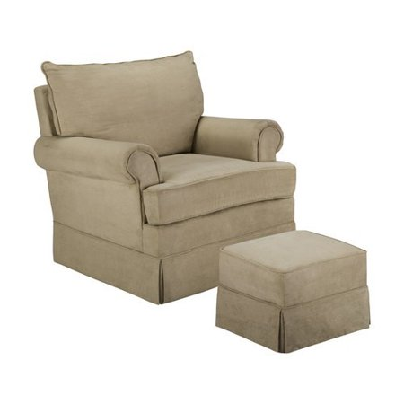 Thomasville Kids Grand Royale Upholstered Swivel Glider and Ottoman Light
