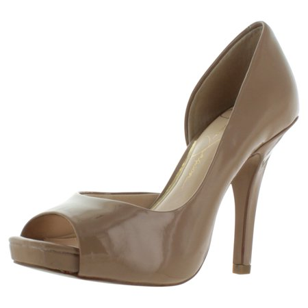 Jessica Simpson Josette D'Orsay Women's Open Toe Pumps Dress Heels