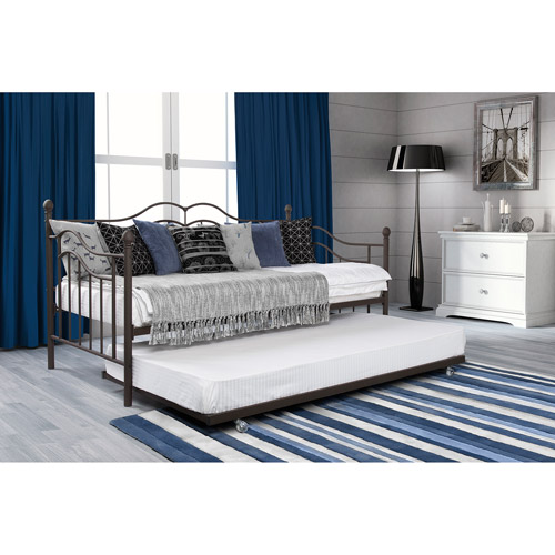 Tokyo Daybed And Trundle Set, Twin Size, Brushed Bronze   Walmart.com