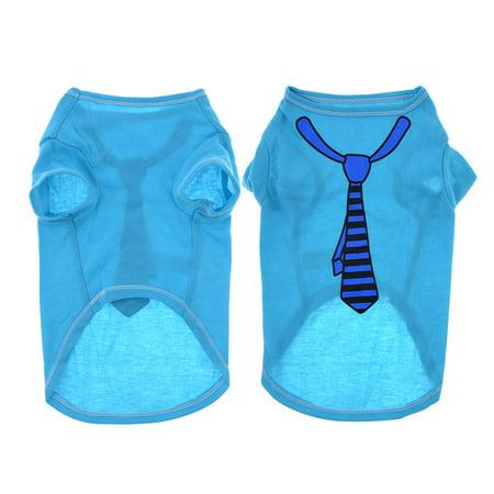 Doggie Tee - Doggy Clothing Doggie Tank Top Short Sleeves Summer Shirt Blue S