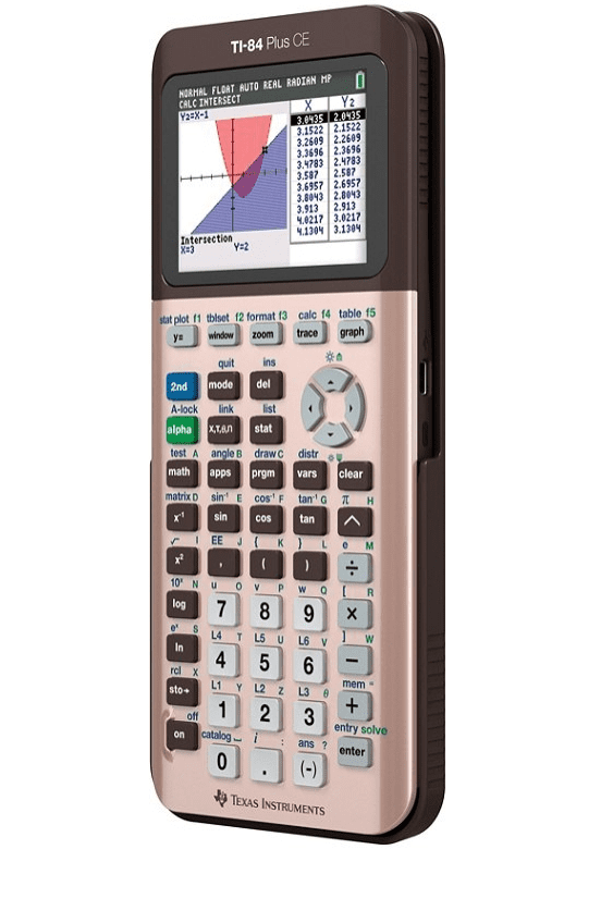 Texas Instruments TI-84 Plus CE Graphing Calculator, Rose