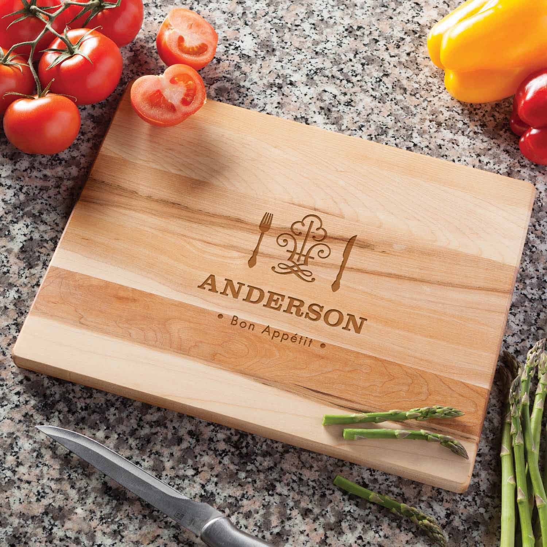 Wood Cutting Board - Personalized Bon Appetit