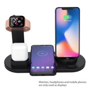 4 In 1 Wireless Charging Dock Station Mobile Phone Charger Stand for Wireless Phones iWatch Airpods