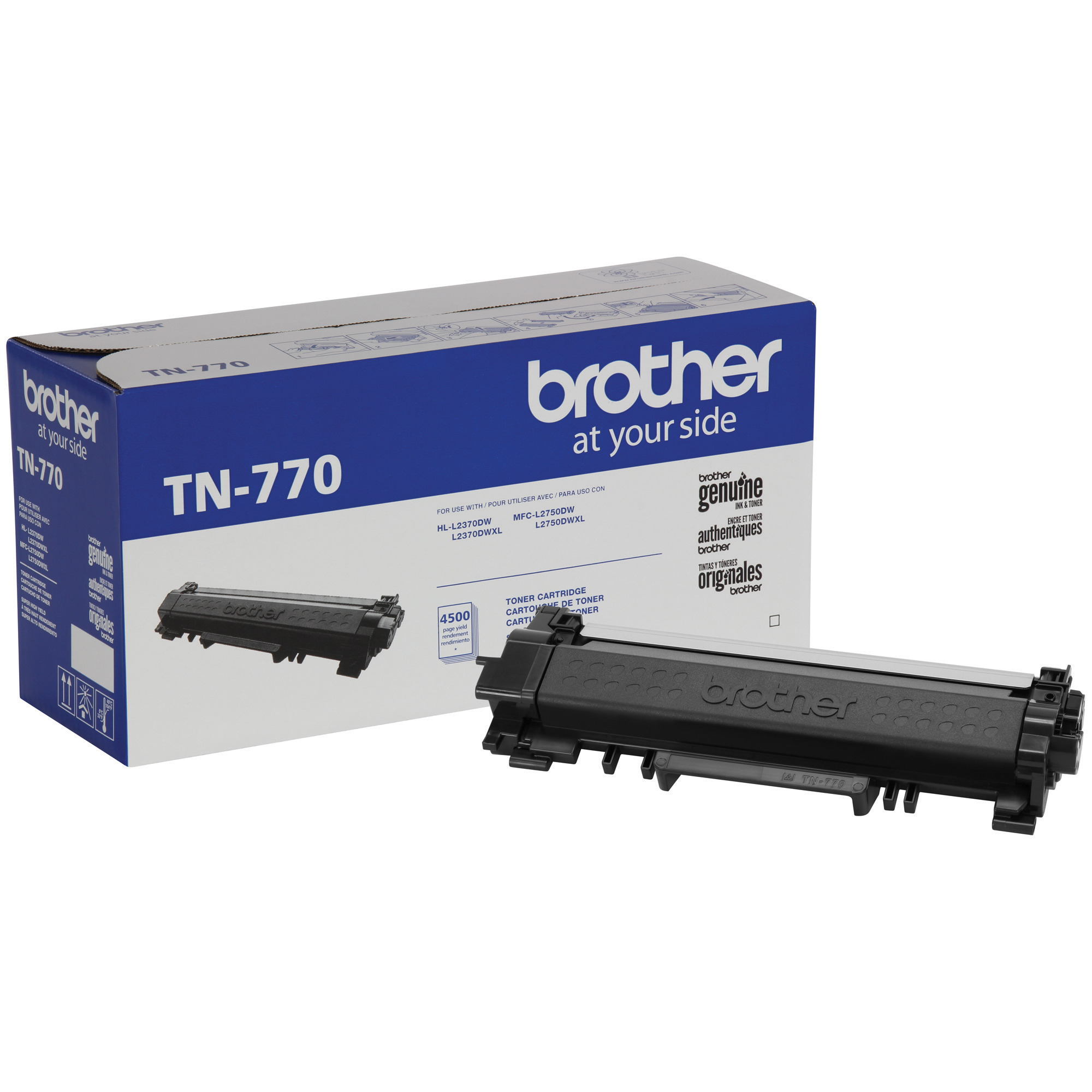 Brother Genuine Cartridge TN770 Super High-Yield Toner, Mono-Laser/Black - 4,500 pages