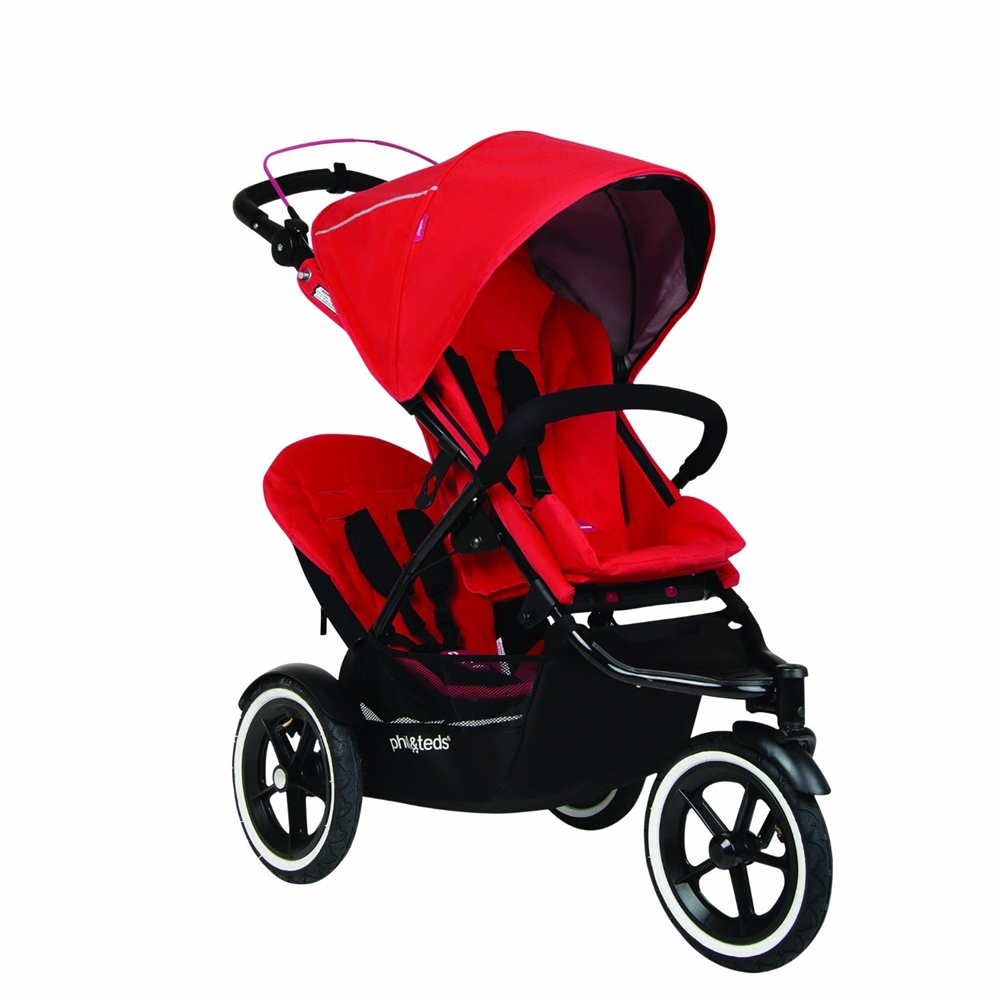 PHIL&TEDS phil Navigator Buggy with Second Seat  - Cherry