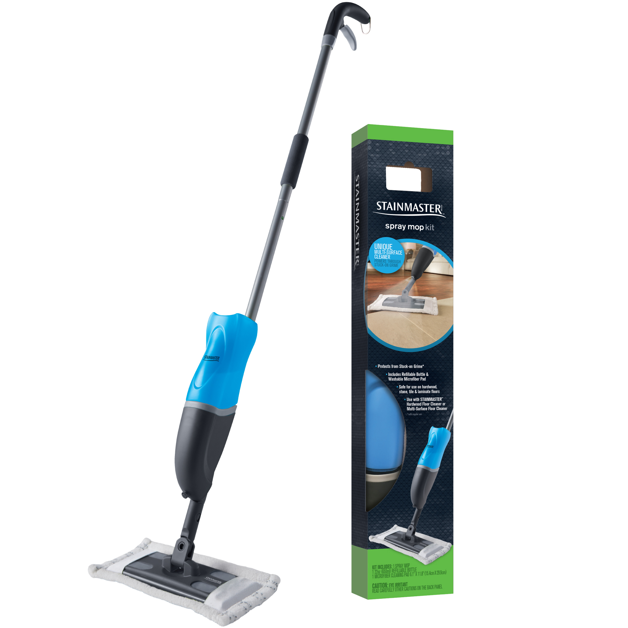 Stainmaster Spray Mop Kit Includes Refillable Bottle Washable