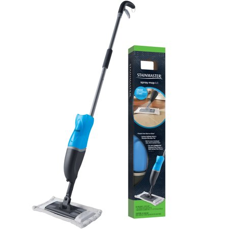 Microfiber Mopping System (STAINMASTER Spray Mop Kit Includes Refillable Bottle & Washable Microfiber Pad for Hardwood or Multi-Surface Floor Cleaning)