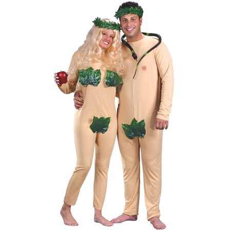 Adam and Eve Adult Halloween Costume Set - One Size - Creative Couple Costume