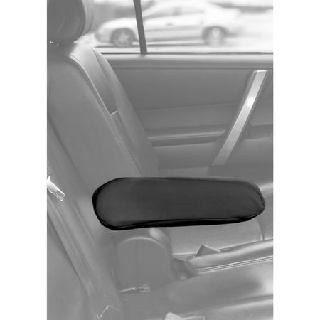 Armrest Set - U.A.A. Inc. 4 Piece set Solid Black Cloth Armrest Cover for Car Van Truck SUV Seat - Universal-fit