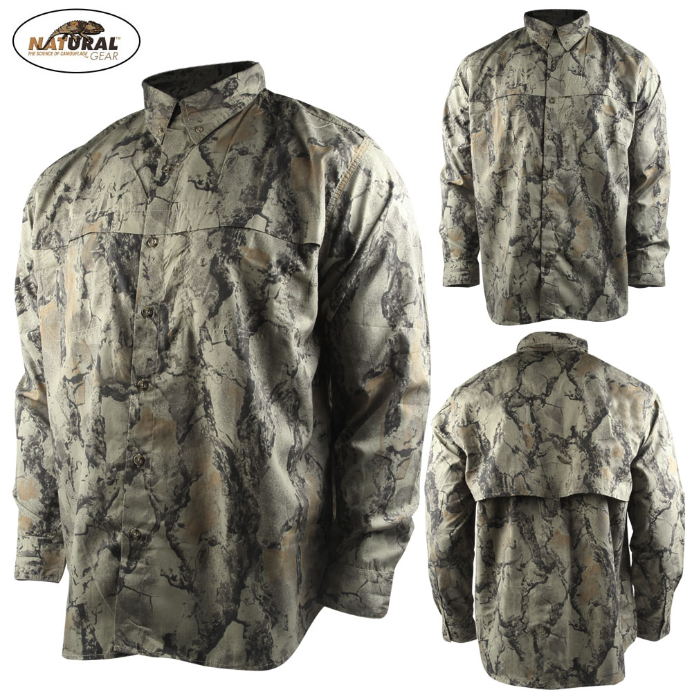 Natural Gear Lightweight Vented Shirt (XL)- Natural Camo