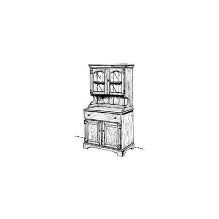 Country Buffet and Hutch Woodworking Plan