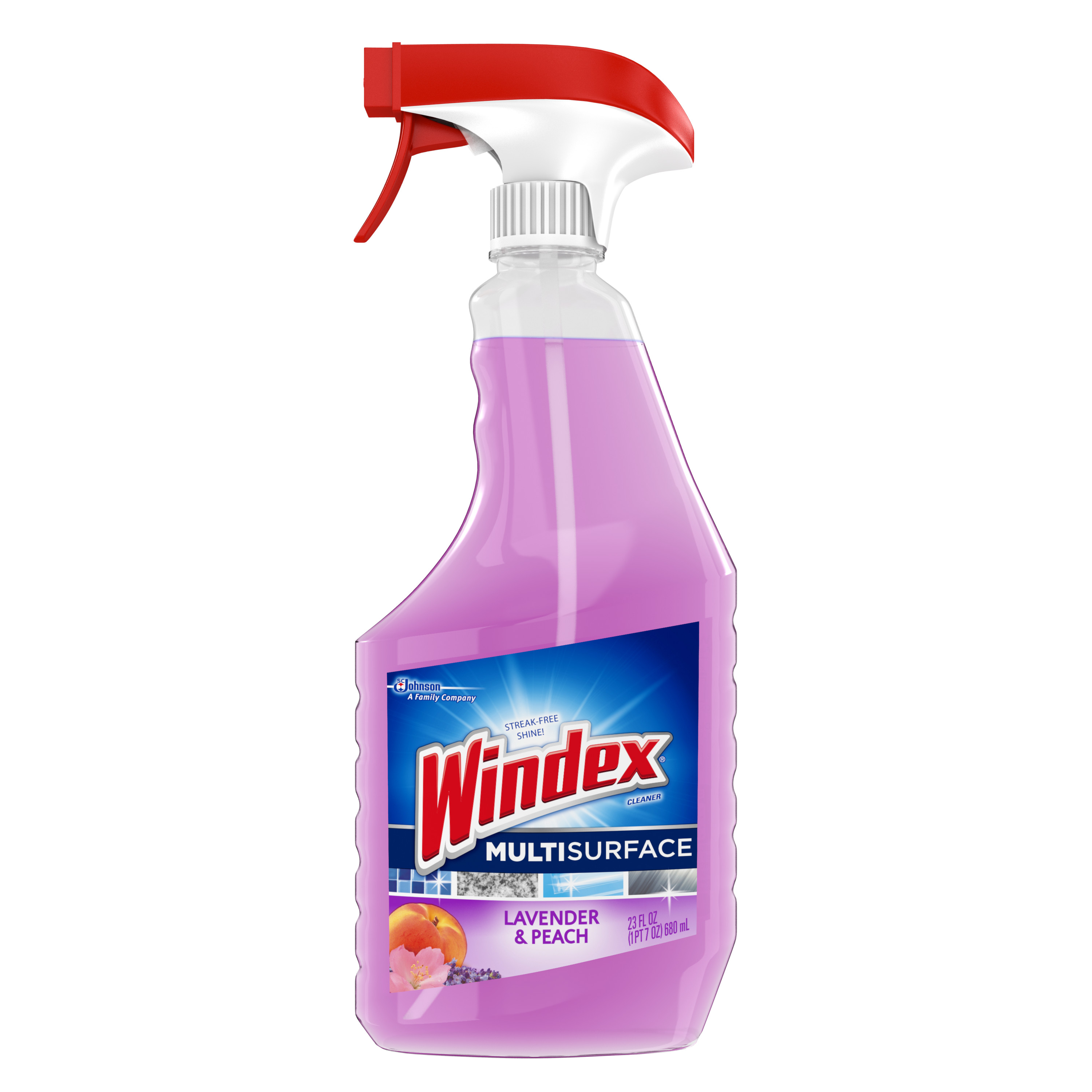 Windex Multi Surface Cleaner Trigger Lavender & Peach 23 Fluid