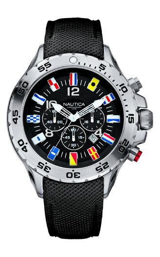 NAUTICA MEN'S WATCH NST CHRONO FLAG 47MM by Nautica
