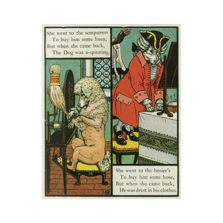 Old Mother Hubbard Print Wall Art By Walter Crane