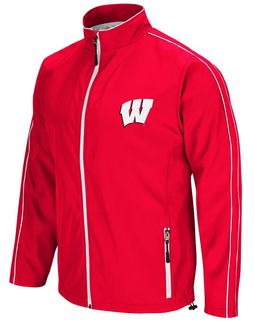 "Wisconsin Badgers NCAA ""Barrier"" Men's Full Zip Wind Jacket by Colosseum"