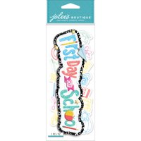 Jolee's Boutique Title Waves Dimensional Stickers-First Day Of School