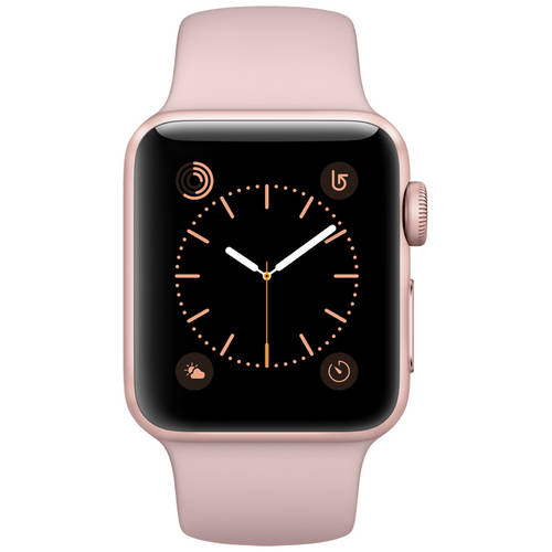 Refurbished Apple Watch Series 2 Rose Gold Case Pink Sand Sport Band 38mm by