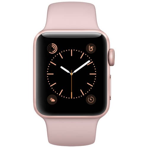 Refurbished Apple Watch Series 2 Rose Gold Case Pink Sand Sport Band 38mm Walmart Com Walmart Com