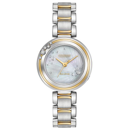 Eco-Drive L Carina Two-Tone Ladies Watch (Ladies Two Tone Eco Drive)