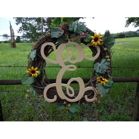 Wooden Letter Vine (E) Unfinished Wood Craft Letter, Paintable Wall Decor (Vine Halloween Letter)