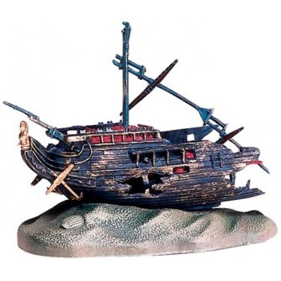 Penn Plax 090 5'' x 2. 5'' Rocking Shipwreck