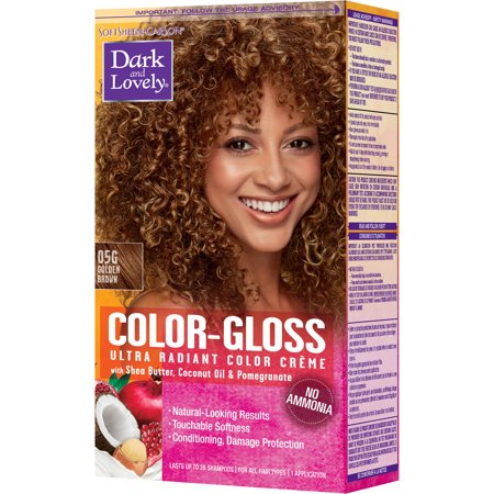 - SoftSheen-Carson Dark and Lovely Color Gloss Ultra Radiant Hair Color Creme, Ammonia Free Hair Dye, with Coconut Oil and Argan Oil