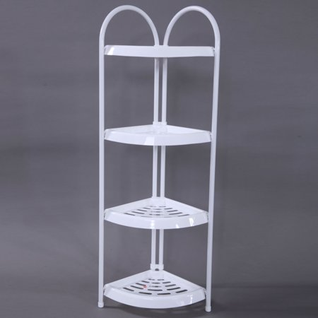 - Zimtown Corner Storage Rack 4 Tier Rack Shelf Wire Shelving Garage Kitchen Bathroom Home