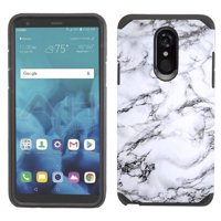 Kaleidio Case For LG Stylo 4 / Stylo 4 Plus [Astro Armor] Rugged Slim Fit [Shock Absorption] [Dual Layer] Hard Hybrid Cover w/ Overbrawn Prying Tool [Black/Black]