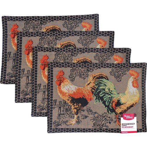 Better Homes And Gardens Rooster Tapestry Placemat Set Of 4